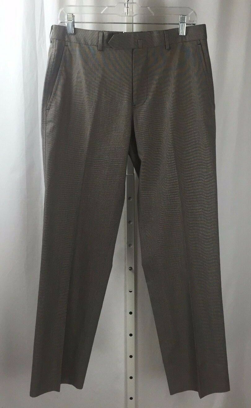 Brooks Bredhers Fitzgerald 100% Cotton Grey Mens Pants  Size 32 X 30