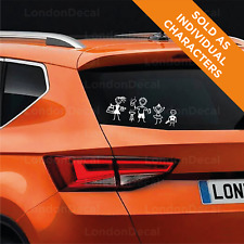 MY CAR STICK FAMILY Window Bumper Vinyl Sticker, any colour. From LondonDecal.
