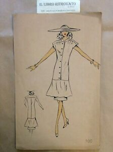 29-RA-Bozzetto-Figurino-Moda-Croquis-de-Mode-Models-pour-Dames-N-100-anni-039-80