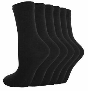 12 Pairs Men/'s Plain Black Color Socks Cotton Blend Formal Designs Socks UK 6-11