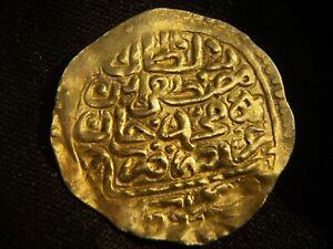 AH1106 ISLAMIC ARABIC OTTOMAN TURKEY EGYPT MISR SHERIFI MUSTAFA II 22K GOLD COIN