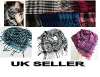 HOT Men Women Checkered Arab Shemagh Arabian Scarf Shawl Keffiyeh Wrap around*ab