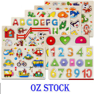 KIDS-WOODEN-PUZZLE-JIGSAW-Alphabet-Animal-Number-EDUCATIONAL-Pre-school-Toys