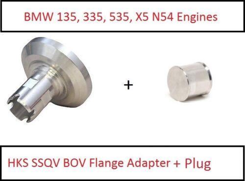 BMW 135 335 535 X5 N54 HKS SSQV BOV Blowoff Valve Flange Adapter Billet Plug