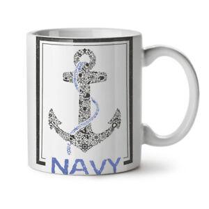 Navy Anchor Sea Vintage NEW White Tea Coffee Mug 11 oz | Wellcoda