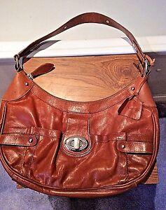 4965896d00f1 Details about M S Autograph tan soft leather off the shoulder handbag