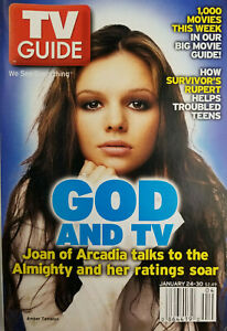 TV-Guide-Jan-2004-Magazine-God-Joan-of-Arcadia-Amber-Tamblyn-No-Label-VG