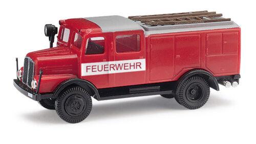Neu Feuerwehr Busch 95604-1//87 IFA S4000 TLF mit Bauchbinde
