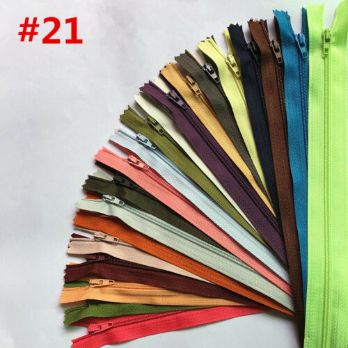 5PCS Nylon Coil Zippers Tailor Sewer Craft ( 12-24 cm ) Crafter/'s /& fgdqrs 20 Color