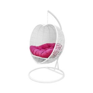 Groovy Details About Bed Chair Weaved Hanging Hammock Rattan Single White Heart Shape Wicker Swing Machost Co Dining Chair Design Ideas Machostcouk