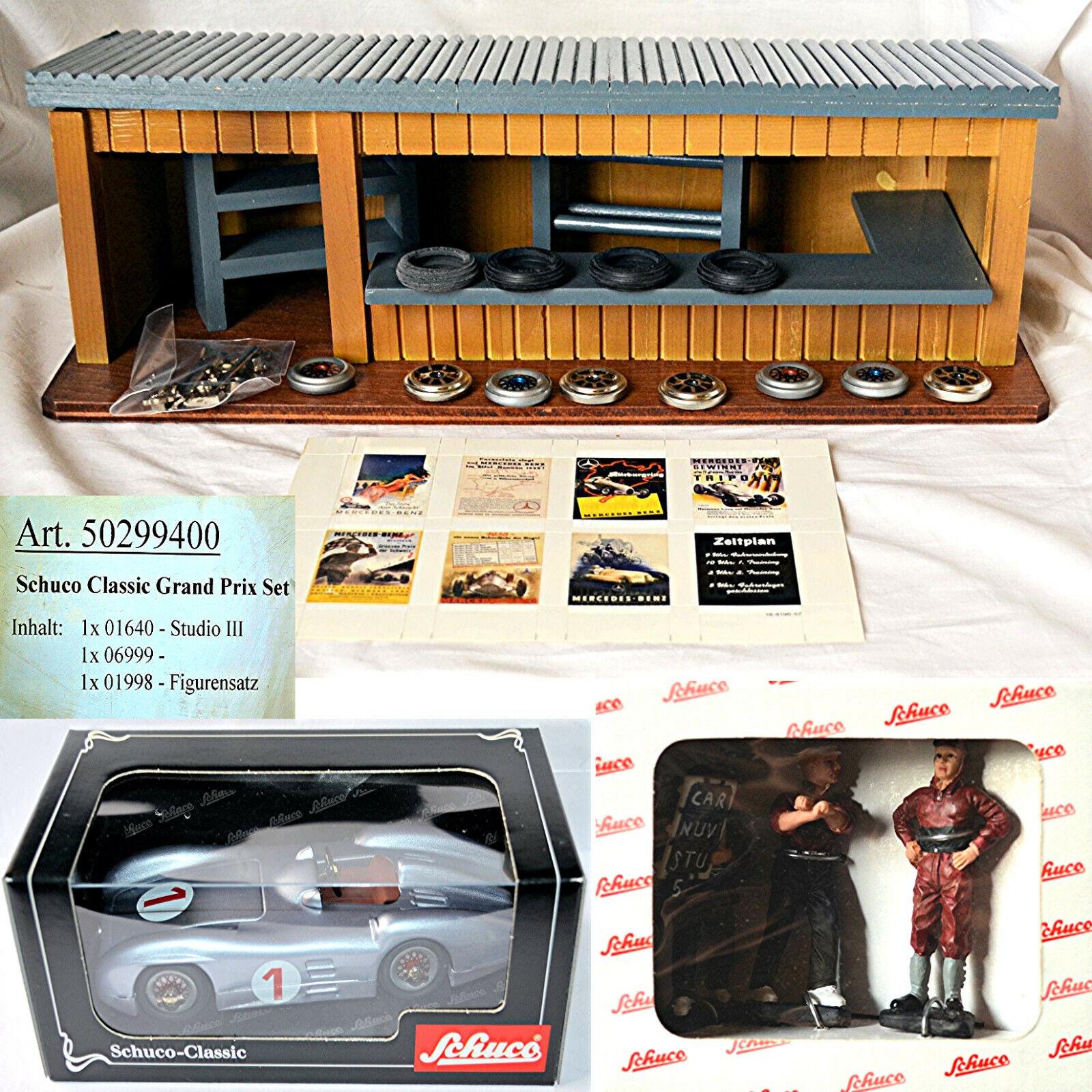 Schuco 50299400 CLASSIC GRAND PRIX SET = Studio 3 Mo w196 Figurenset Boxe ruelle