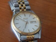 SEIKO 7N43-8111 Two Tone Datejust Day Date Jubilee Rolex Homage NW Needs Battery