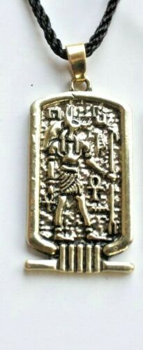 Cartouche Ancient Egyptian Pendant Necklace Ankh Egypt Anubis God Wicca Jewelry
