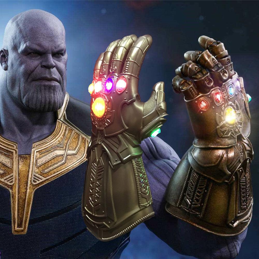 Avengers unendlichkeit krieg unendlich spießrutenlauf led - licht thanos handschuhe cosplay.