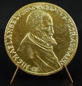 Medal-Angelic-1475-1975-Restrike-1561-Sc-Leone-Leoni-Michelangelo-Medal