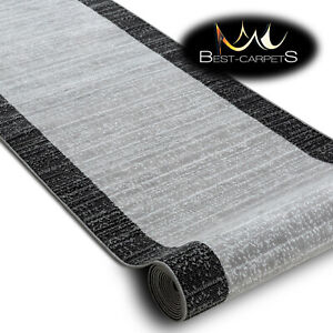 Modern Hall Carpet Runner Bcf Anna Stripes Grey Stairs 60