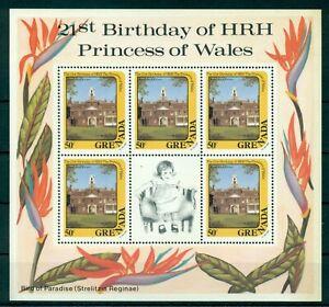 GRENADA-1982-3-M-Sheets-5-stamps-MNH-Diana-039-s-Birthday-Mi-No-1160-2-4KB