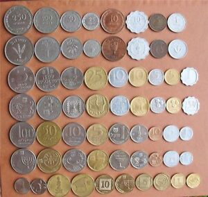 Complete-Israel-Coins-Set-Pruta-Lira-Old-amp-New-Sheqel-Lot-of-31-Coins