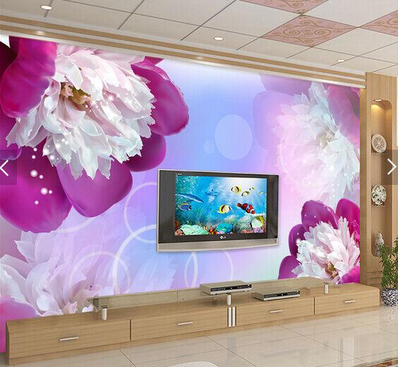 3D Lila Blütenblätter 4353 Fototapeten Wandbild Fototapete BildTapete Familie DE