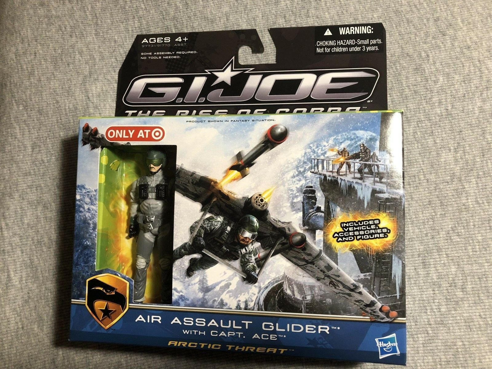 NEW MISB GI JOE ROC Rise of COBRA AIR ASSAULT GLIDER w ACE Target Exclusive