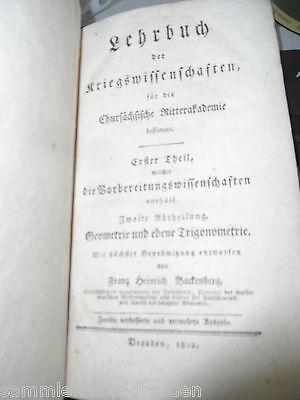 Mp003 Backenberg Lehrbuch Der Kriegswissenschaften Chursächsische Ritterakademie