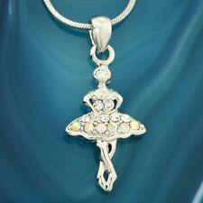 Ballerina Made With Swarovski Crystal Chain Ballet Dancer Girls Pendant Necklace