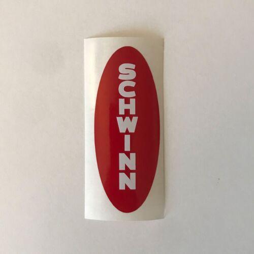 Black, White, Yellow or Red Schwinn Head Badge Sticker Emblem
