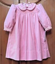 NWT STRASBURG Boutique 6M 9M Pink Velvet Embroidery Pearls Formal Party Dress