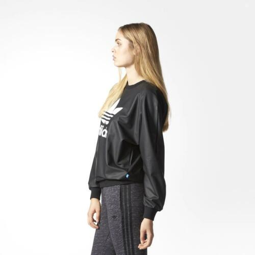 adidas Trefoils Originals Rare Womens Wet Look Sweater rrp£62 AY9463