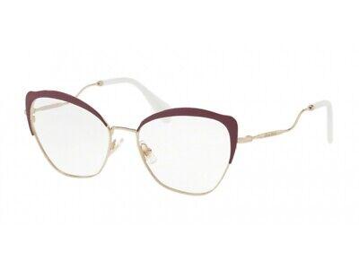 Generoso Montatura Occhiali Da Vista Miu Miu Autentici Mu 54pv Bordeaux Ua51o1 Lustro Incantevole