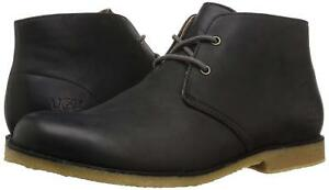 bf2ed8bbc0f Men UGG Leighton Waterproof Boot 1017272 Black Leather 100% Original ...