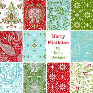 BUNDLE-Free-Spirit-Elegant-Christmas-Fabric-Merry-Mistletoe-by-Dena-Designs
