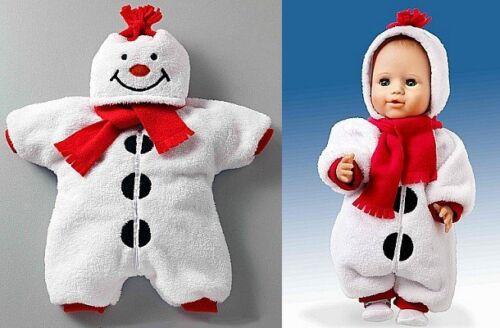 Puppen Winter Kleidung Schneemann Overall Schneeanzug Strampler Schal 2640