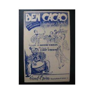 Ben-Cacao-Harry-Parsons-Accordeon-1950-partition-sheet-music-score