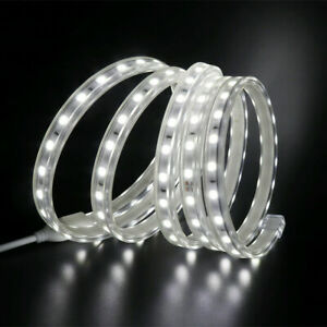 LED-Streifen-220V-240V-5050-SMD-Wasserdichtes-Klebeband-Lichter-Seil-Weiss-NEU