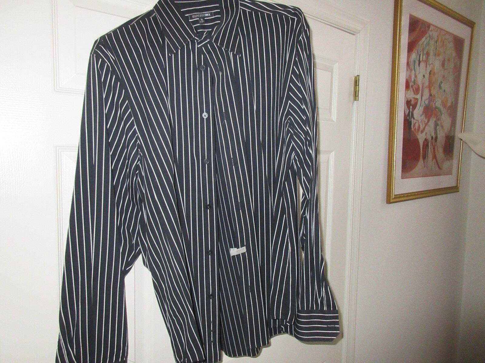 Express1MX , Men's Long Sleeve Shirt , XL , 17-171/2 ,