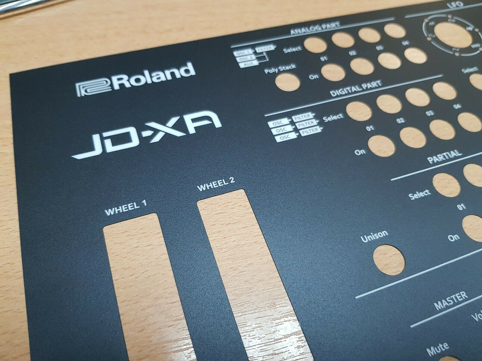 One Set Of 5 Panels - JD-XA synth - screen printed