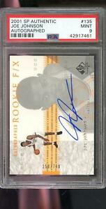 2001-02-Upper-Deck-SP-Authentic-F-X-Joe-Johnson-AUTO-Autograph-PSA-9-Graded-Card
