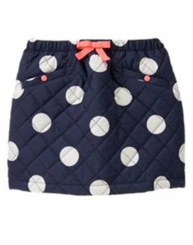 NWT Gymboree Girls Polar Pink Navy White Polka Dot Quilted Skirt Size 4 /& 6