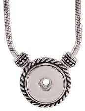 """Fits Ginger Snaps SNAP 24"""" Necklace Interchangeable Pendant 18mm Toggle Clasp"""