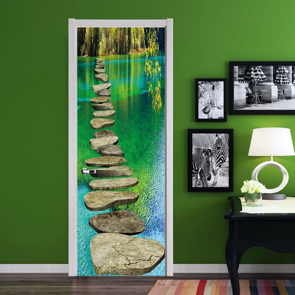 3D Fluss 75 75 75 Tür Wandmalerei Wandaufkleber Aufkleber AJ WALLPAPER DE Kyra   Gute Qualität    Einfach zu bedienen    Exquisite (in) Verarbeitung  9d8603