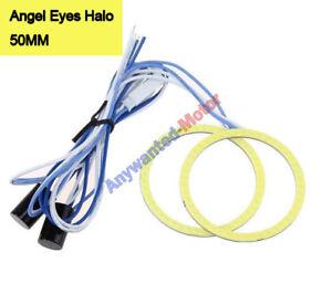 1 pair 50MM White COB Angel Eyes Halo Car LED Light Ring DRL Halo Headlight Lamp