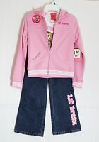 Lil' Bratz Girls Outfits Hoodie+t-shirt+denim Pants 3pcs Set Size 7/8