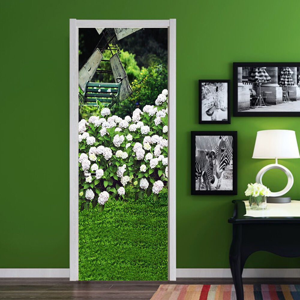 3D Blumen 89 Tür Wandmalerei Wandaufkleber Aufkleber AJ WALLPAPER DE Kyra