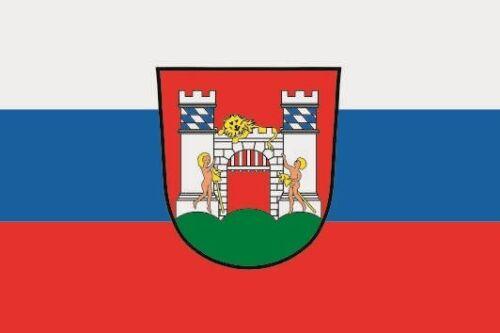 Aufkleber Neuburg an der Donau Flagge Fahne 12 x 8 cm Autoaufkleber