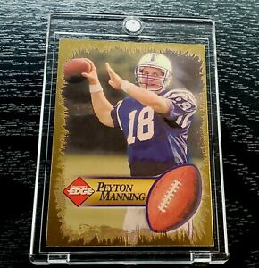 """Peyton Manning """"1998 COLLECTORS EDGE - GOLD ARM BACK BALL IN PICTURE"""" ROOKIE 🔥"""