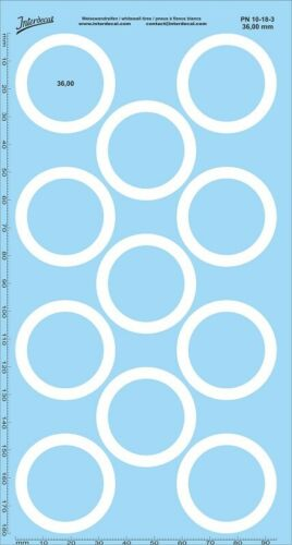 Weisswandreifen 36 mm 1//18 pn10-18-3 Décalque naßschiebebild