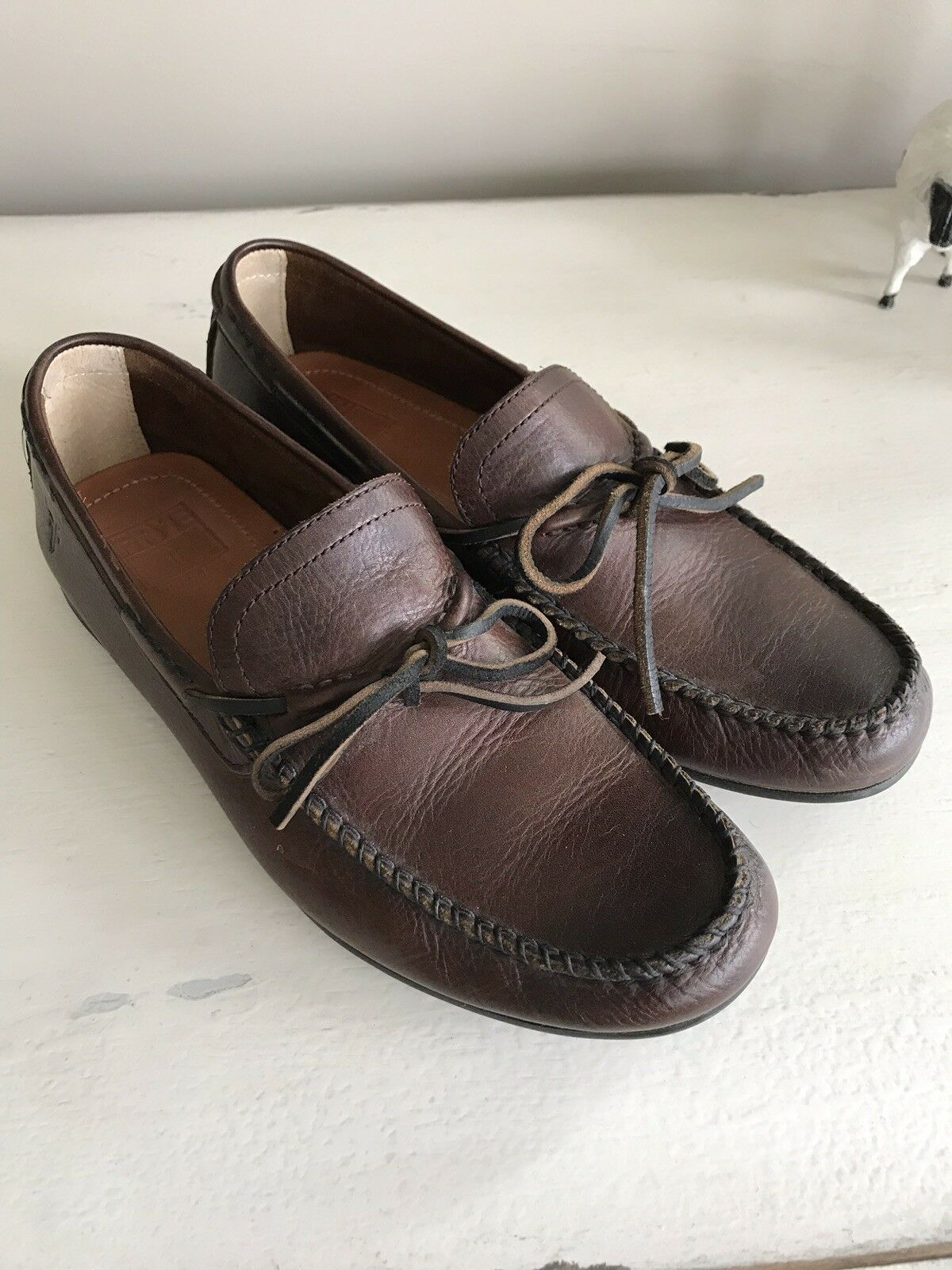 Frye Russel Tie Loafer - Men's Size 10.5- Brown