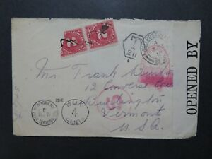 Great-Britain-1916-Censored-Fieldpost-Cover-to-USA-w-Dues-Z8205