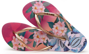 be9dd822bacd6 Havaianas Women`s Flip Flops Slim Tropical Sunset Sandals Hollywood ...
